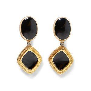 Black gold | Zara statement earrings